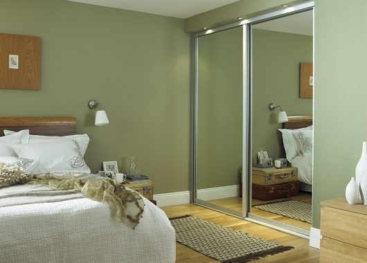 Full Mirrored Guest Bedroom