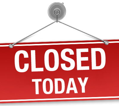 Saturday 18th March we will be closed